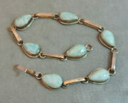 Hand Crafted Dominican Blue Larimar Sterling Silver 7 Bracelet Cg 89
