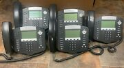 Lot Of 6 Polycom Soundpoint Ip 550 With Stand And Handset