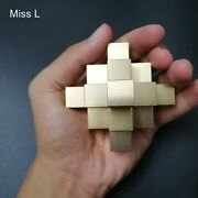Chinese Kong Ming Lock 3d Puzzle Collection Pure Brass Metal Puzzle Model Game