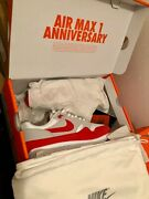 Nike Air Max 1 Red Anniversary Og Size Us8 Eu41 Cond. 95/10