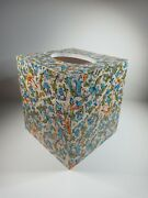 Beautiful Decoupage Wood Tissue Box Cover With Bottom Dellarobia Florentine Ross