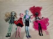 Mixed Lot Of 4 Monster High Dolls Clothing Accessories Shoes Honey Swamp