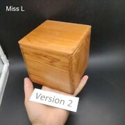 Mahogany Wooden Secret Puzzle Box Toy Simple Game