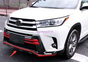 2pcs Front Rear Bumper Board Guard Protector Fit For Toyota Highlander 2015-2017
