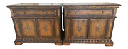 Pair 2 Of Marge Carson Segovia Marble Top Side Chests / Nightstands