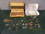 Vintage Lot Of Fly Fishing Flies W Boxes
