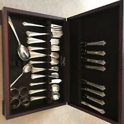 Damask Rose By Oneida Sterling Silver Flatware Set 57pieces
