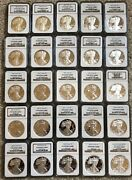 1986 - 2011 Silver Eagle Ngc Pf69 Ultra Cameo 25 Proof Coins
