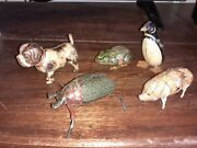 Lot Of Old Animal And Insect Tin Toy - Wind Up Toy - Clock Work