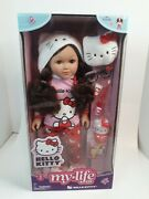 New My Life As 18 Poseable Hello Kitty Doll Brunette Hair