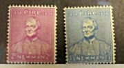 Ireland Stamps. Scott's S 153-154. Mh. Cardinal Newman.  Sal's Stamp Store