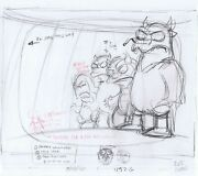 Simpsons Where The Wild Things Are Original Art Animation Production Pencils 452