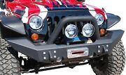 131174lx Mbrp Exhaust Front Full Width Winch Bumper Pkg Linex Coated