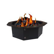 """30"""" Id And 38"""" Od Outdoor Heavy Duty 2.0mm Steel Octagon Fire Pit Ring Insert"""