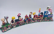 Danbury Mint Peanuts Gang Valentines Day Express Train Snoopy Excellent
