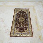 Yilong 2and039x4and039 Red Handwoven Silk Carpet Home Gallery Rug Runner Hallway Tj144a
