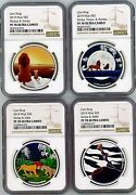 Rare Disney The Lion King 4 Coin Set 2019 Nuie Ngc Pf70 Uc