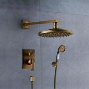Bathselect Ancient Round Antique Brass 8andrdquo Rainfall Wall Shower Head Set - Bs9504