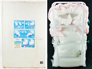The Doll Factory Diana Collection Doll Pram White Eyelet No. 4204 New