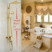 Bath Select Florence Gold Shower Set With 8 Rainfall Square Shower Head- Bs17ag