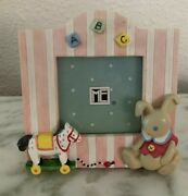 New Vtg Mary Engelbreit Resin Mini Picture Frame Sweet Things Bunny Andcopy1999 Rare