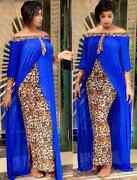 Plus Size Clothing Autumn Leopard Printed Dashiki African Dresses For Women