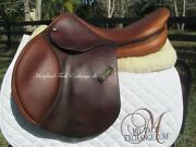 18 Amerigo Close Contact Jumping Saddle Green Label Buuter Soft- On Trial