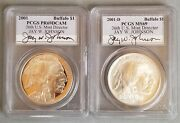 2001-d And P Of American Buffalo Pcgs Ms 69 And Pr 69 Dcam Coin Set