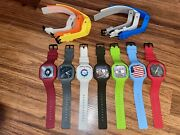 Genuine Modify Watches - Lot Of 13 Silicone Bands And 7 Interchangeable Faces. .