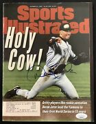 Derek Jeter Signed Sports Illustrated 10/21/96 Yankees Rookie 1st Cover Auto Jsa