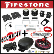 Firestone Ride Rite Kit And Airlift Air Compressor For 2008-2018 Gmc Sierra 1500