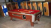 6 1/2and039 Valley Coin-op Pool Table Model Zd-4 In Red Also Avail In 7and039 8and039