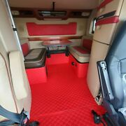Volvo Vnl 780 730 Floor Mats Custom Diamond Stitched Leather Vinyl Floor Mats
