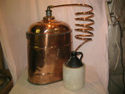 Antique One Of A Kind - Extremely Rare Copper Moonshine Still -museum Item Lqqk