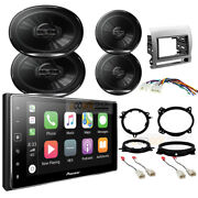 Pioneer Apple Carplay Car Radio Front/rear Speakers For 2005-2011 Toyota Tacoma