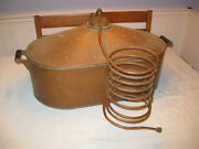 Awesome Approx. 35 Gallon Antique Copper Moonshine Still W/ Coil