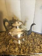 """Silver On Copper Teapot Hallmarks On The Bottom Approx. 8""""tall"""