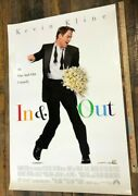 Vintage Poster In And Out Original One Sheet Kevin Kline 1997 Double Sided 27x40