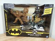 Dc Batman Vs. Clayface Batcycle Pack Action Figures Spin Master 1st Edition