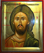 Pantokrator Orthodox Portable Hand-painted Byzantine Icon Made In Greece