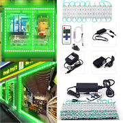 10'ft200'ft 5050 Smd Green 3 Led Module Store Front Window Light Sign Lamp Kits