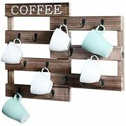 Welland Pull-out Coffee Cup Holder, Wall Mounted Mug Rack For Farmhouse Station