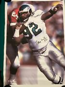 Reggie White Signed 21 X 30 Canvas. 1 Of A Kind Only One In Existence
