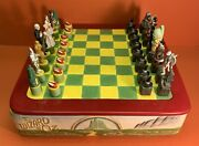 1995 Star Jars Wizard Of Oz Full 32 Piece Chess Set And Board Ltd Edition 186/300