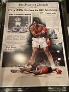 Broome/london Andlsquo04 24 X 36 Clay Vs Liston Matted Print. The Goat