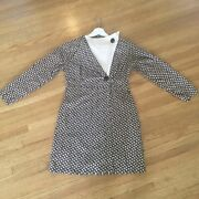 1940s 40s Wwii Rare V For Victory Novelty Print Mini Dress Small