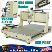 Usb Port 6090 Cnc Router Engraver 4 Axis Engraving Milling Carving Machine 1500w