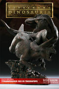 Sideshow Faux Bronze T-rex Vs Triceratops Diorama-dinosauria 17 Of 35 Made