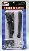 Atlas 2700 N Scale Code 80 Track Remote Left Hand 4 Standard Turnout