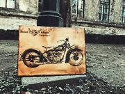 Indian Motorcycle Wooden Picture Home Decor Wall Art